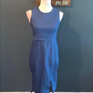 Ann Taylor | Blue sleeveless Cotton Shift Dress